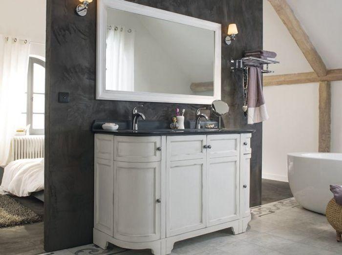 Meuble salle de bain double vasque style ancien salle de - Lavabo salle de bain style ancien ...