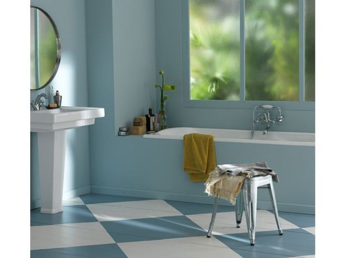 20 salles de bains color es elle d coration - Idee couleur salle de bain zen ...