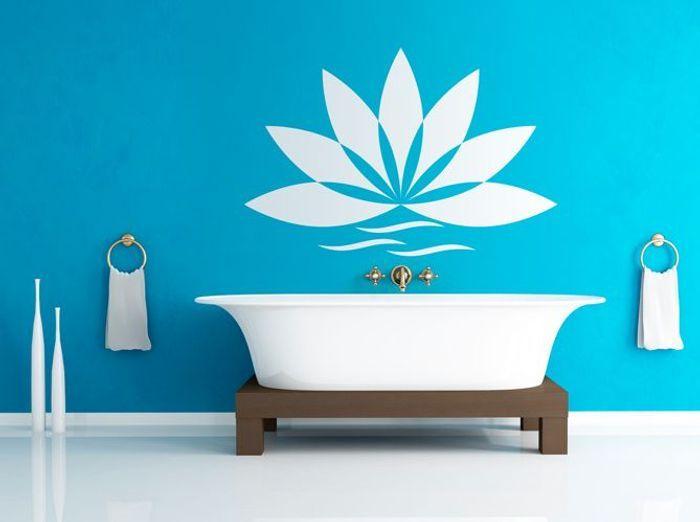 12 stickers pour relooker votre salle de bains elle for Sticker douche salle de bain