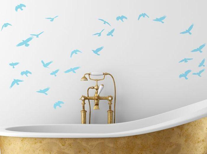 12 stickers pour relooker votre salle de bains elle d coration - Stickers salle de bain ...