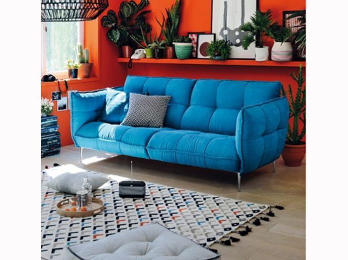 decoration orange et bleu. Black Bedroom Furniture Sets. Home Design Ideas