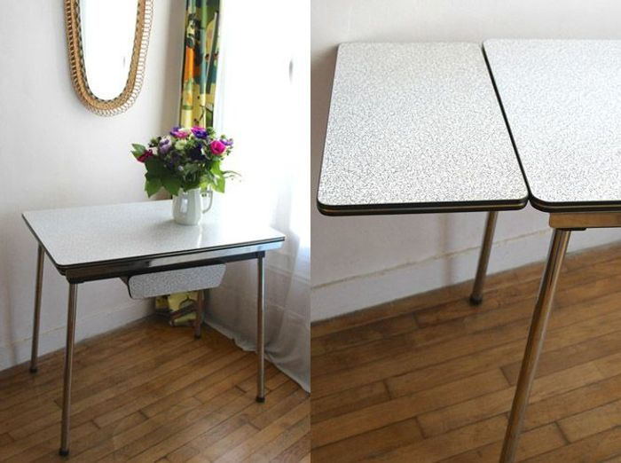 Table en formica rallonge