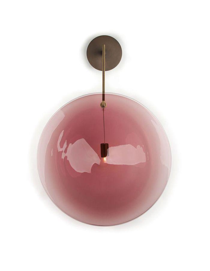 Une applique bulle rose