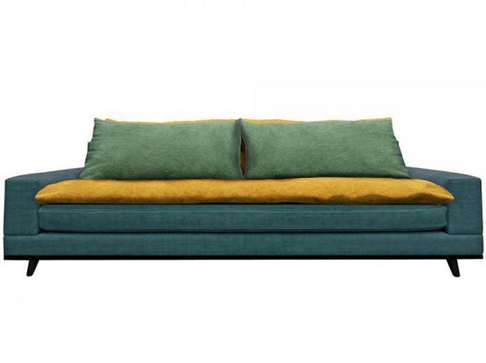 Farandole de nouveaux canap s design elle d coration for Deco canape bleu canard