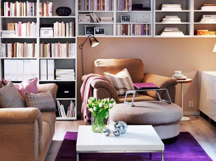 10 id es pour une biblioth que originale elle d coration. Black Bedroom Furniture Sets. Home Design Ideas