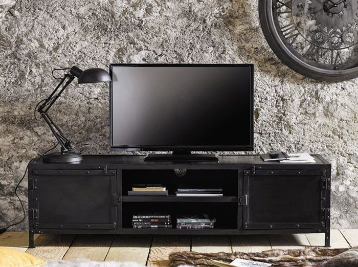 finest un meuble tv industriel with maison du monde industriel. Black Bedroom Furniture Sets. Home Design Ideas