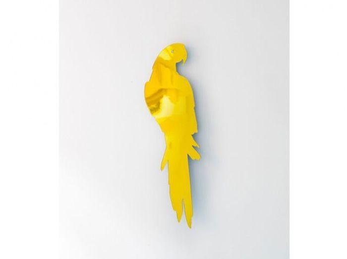 Silhouette de perroquet pour ce miroir flashy