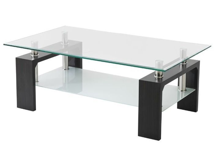 20 tables basses pas ch res elle d coration for Table de salon transparente