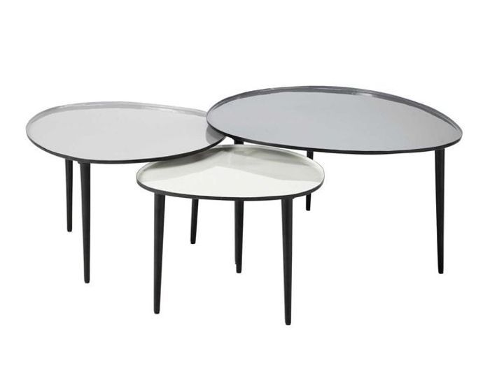 table basse en verre habitat habitat et jardin table basse sophia poufs x x with table basse en. Black Bedroom Furniture Sets. Home Design Ideas