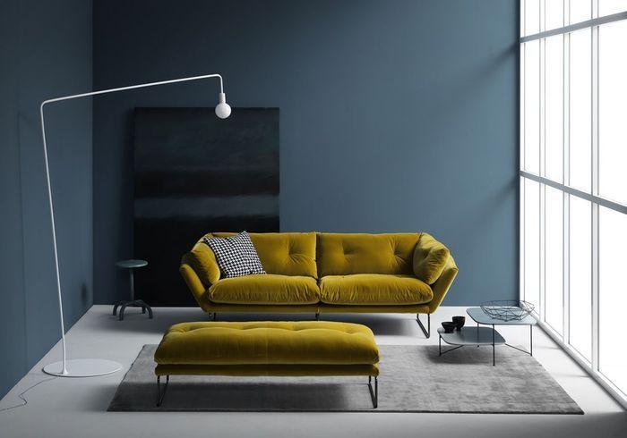 Salon jaune et bleu
