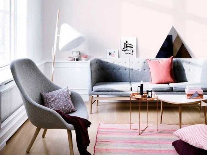 Un salon design scandinave