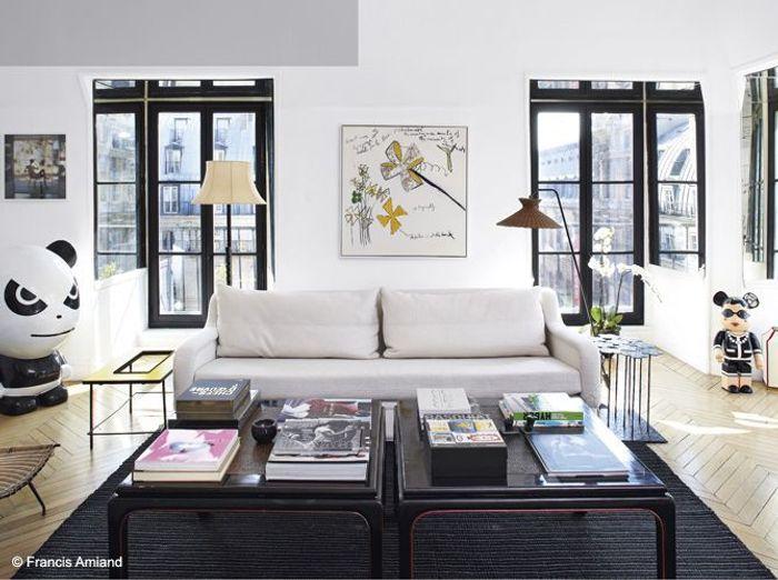 Salon noir blanc design sarah lavoine
