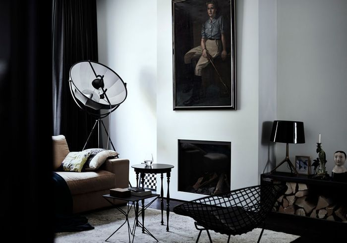 Le noir blanc s invite au salon elle d coration - Idee deco noir et blanc salon ...