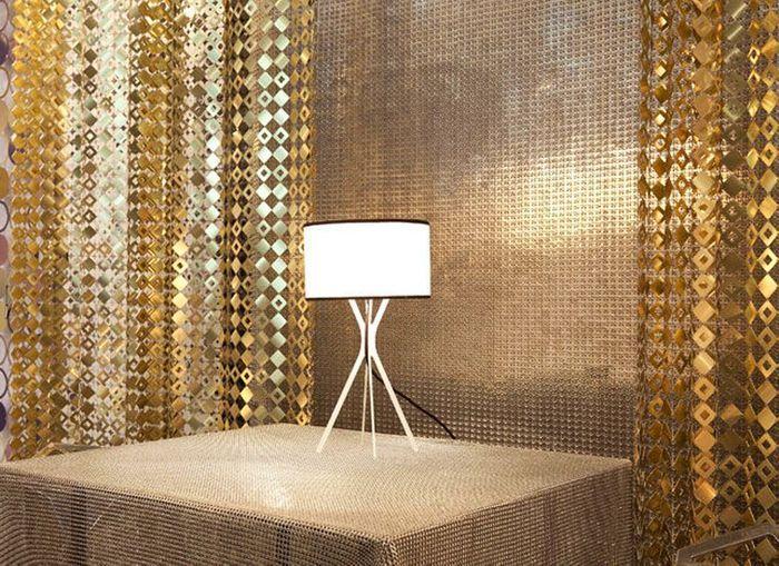 rideau effet clubbing rideaux originaux pour salon with rideaux originaux. Black Bedroom Furniture Sets. Home Design Ideas