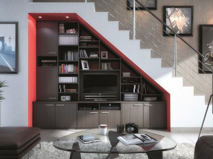 16 id es d co pour ne pas perdre d 39 espace sous l 39 escalier elle d coration. Black Bedroom Furniture Sets. Home Design Ideas
