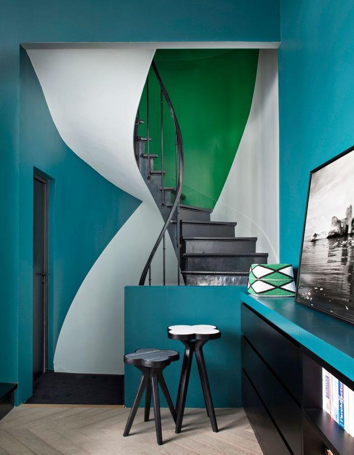 Oser le style arty pour un escalier déco