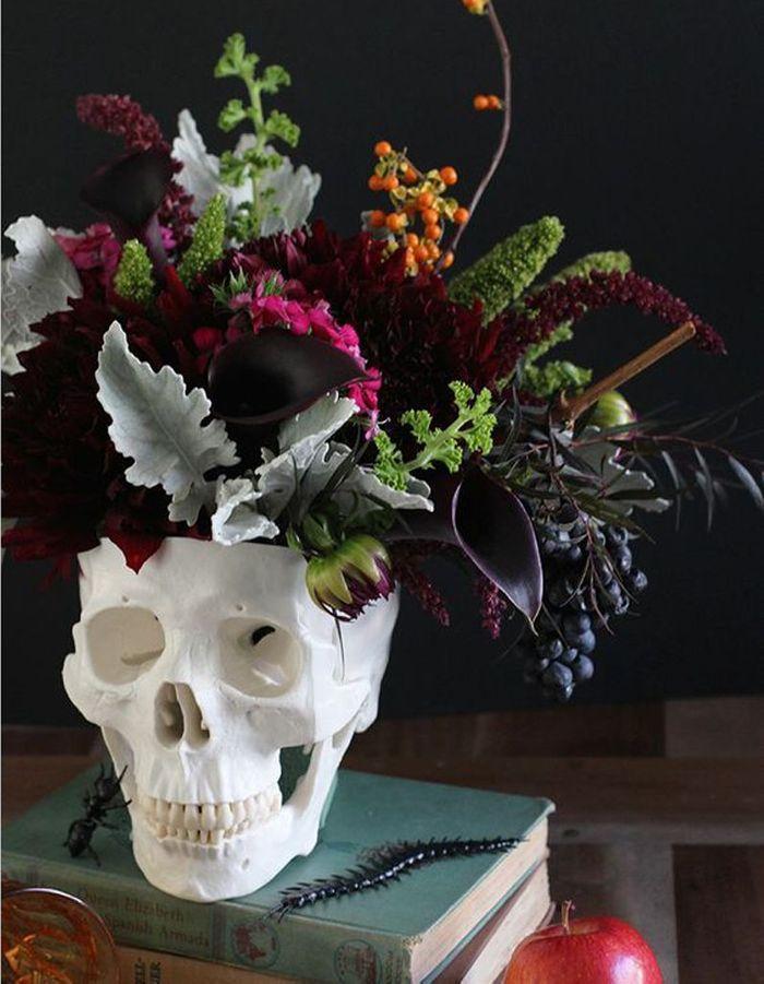 Décoration Halloween : la tête de mort