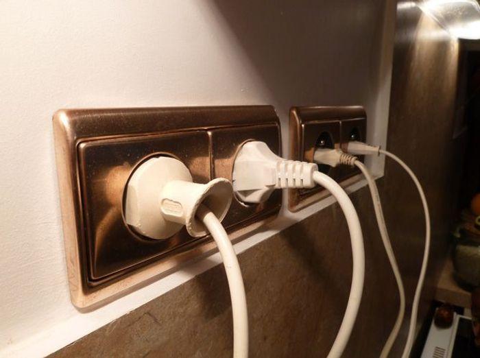 Maison cuivre interrupteur