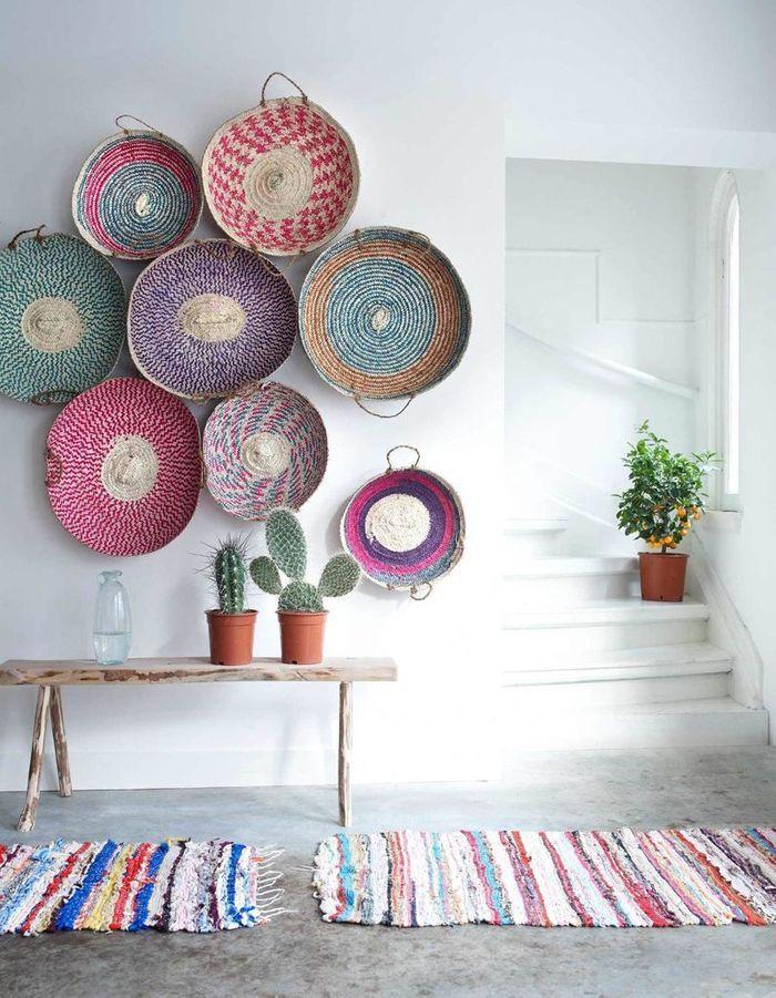 On décore son mur avec des paniers plats