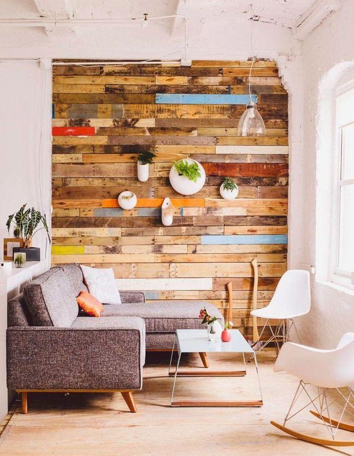 On décore son mur avec des pot de fleurs suspendus