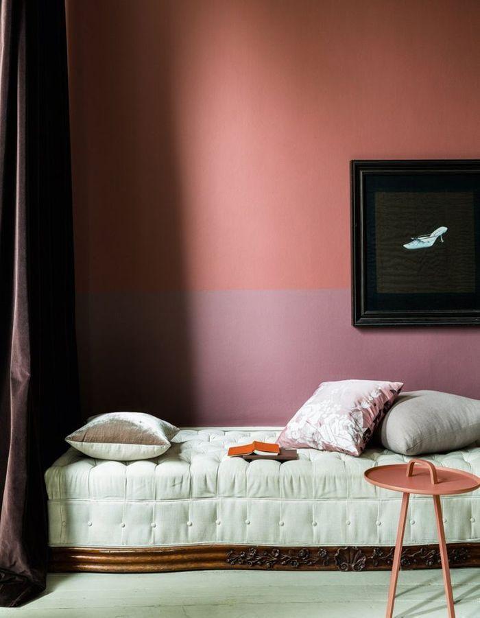 Un mur subtilement bicolore