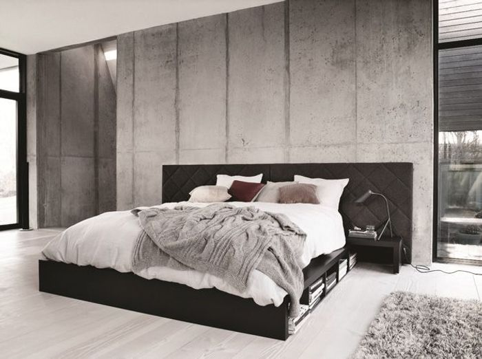 adopterez vous la tendance du mur brut elle d coration. Black Bedroom Furniture Sets. Home Design Ideas