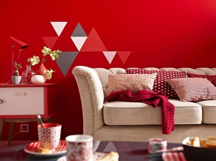 Les murs font le plein de couleurs elle d coration - Mur rouge ...