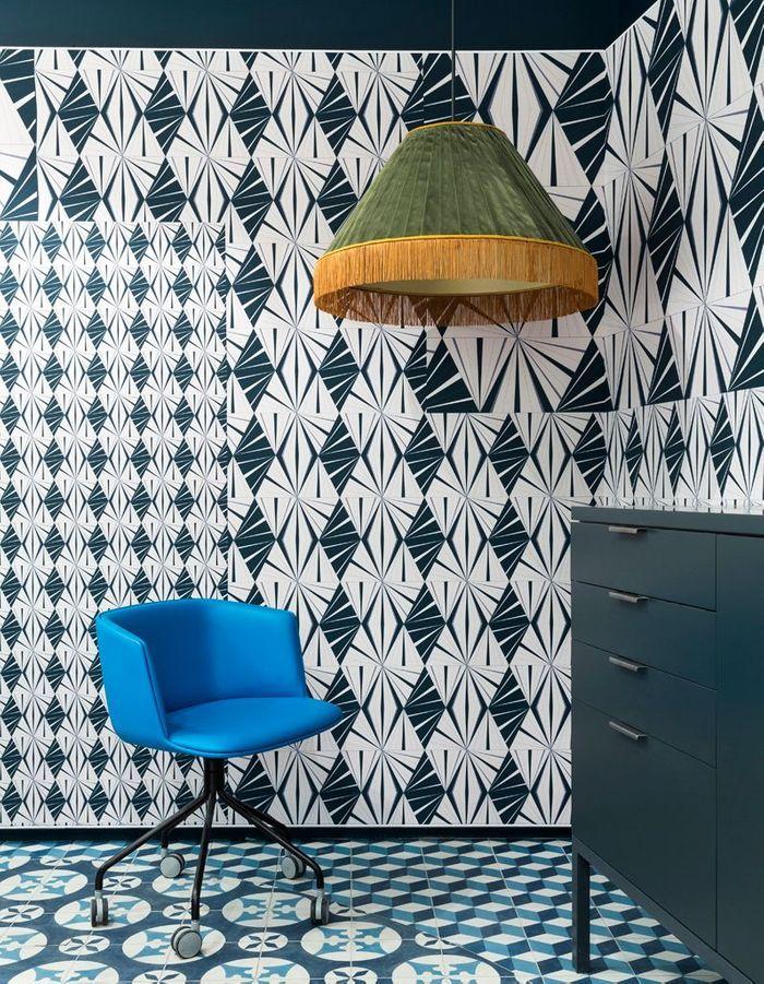 papier peint tendance d couvrez les papiers peints tendance de l 39 ann e 2017 elle d coration. Black Bedroom Furniture Sets. Home Design Ideas