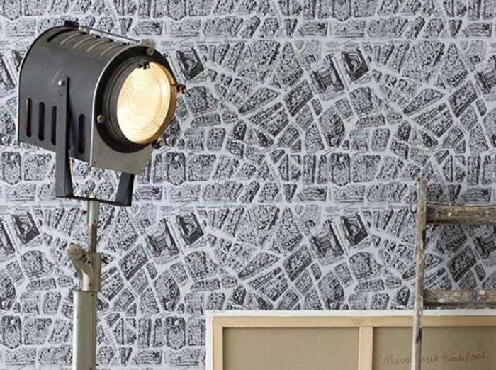 Un papier peint vintage des quartiers de Paris