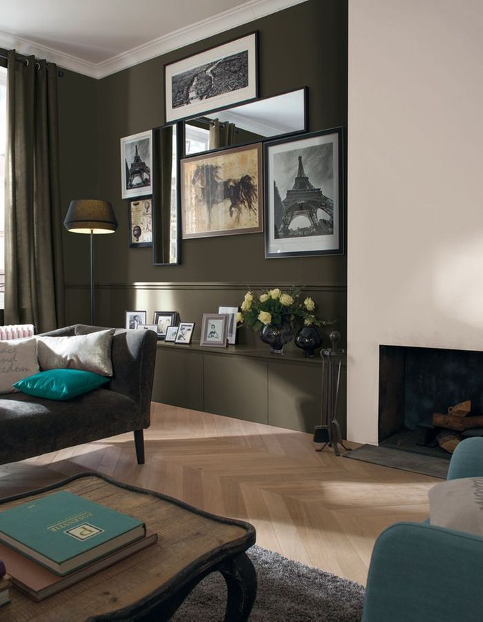 peindre un mur en deux couleurs dynamisez vos espaces. Black Bedroom Furniture Sets. Home Design Ideas