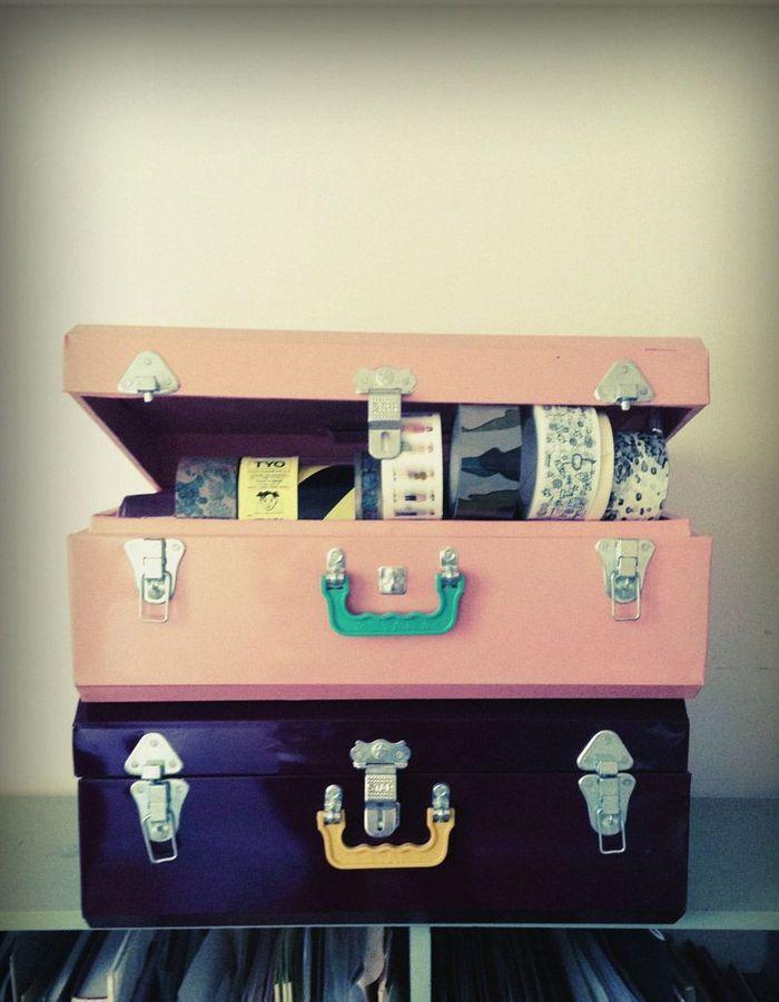 La papeterie dans une belle valise