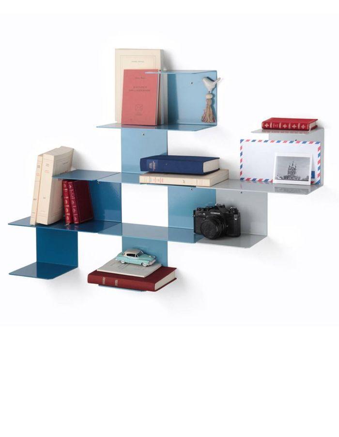 Une étagère modulable comme vide-poche