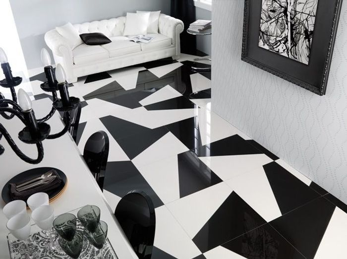 60 carrelages d co elle d coration for Deco avec sol noir