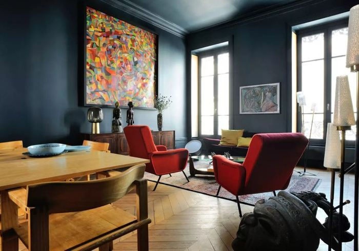 Appartement bleu à Lyon
