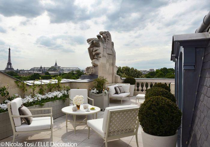 Hôtel de Crillon : la terrasse de la suite Bernstein