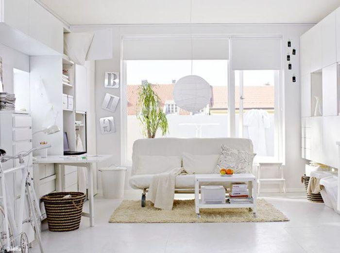 Bien aménager un appartement de 50 m² - Elle Décoration