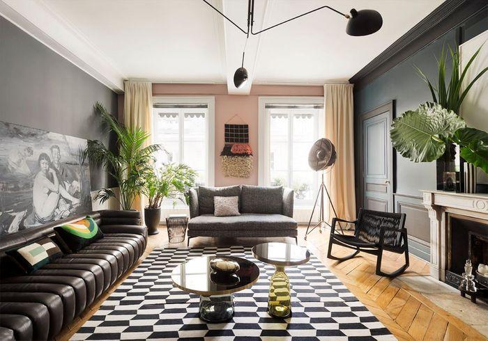 Un appartement somptueux comme une galerie elle d coration for Site de decoration salon
