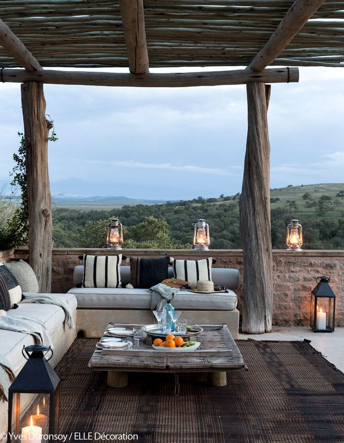 La terrasse comme poste d'observation