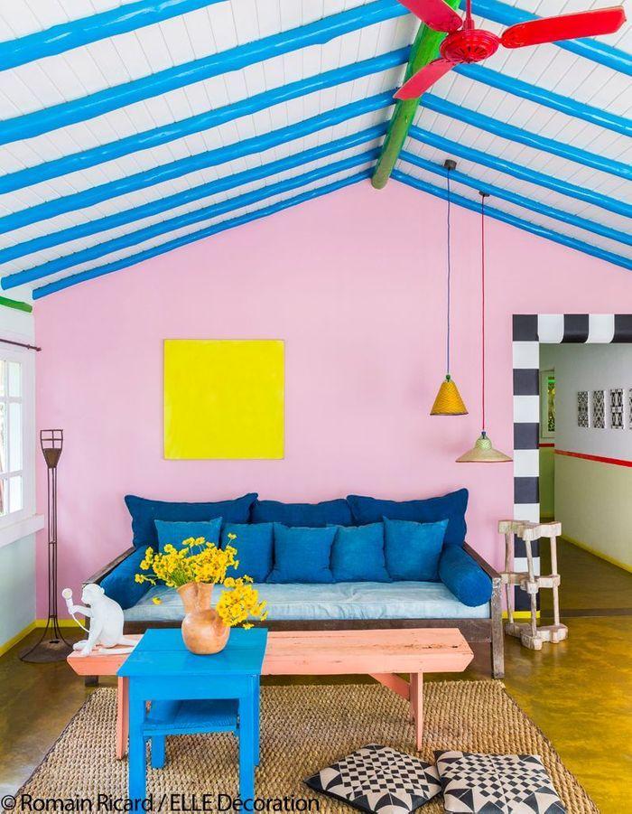 Salon haut en couleurs