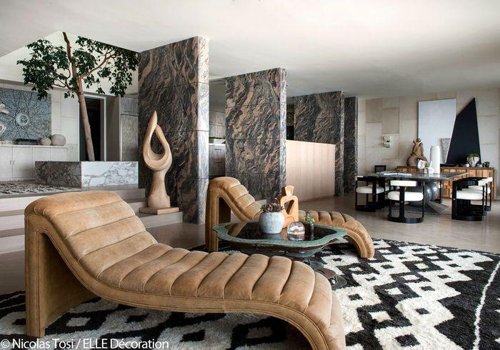 Une maison californienne ouverte sur le pacifique elle - Maison plain pied deco orientale palm springs ...
