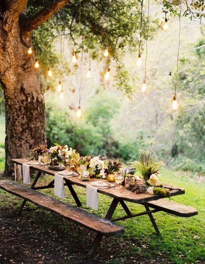 Suspensions pour un mariage en extérieur