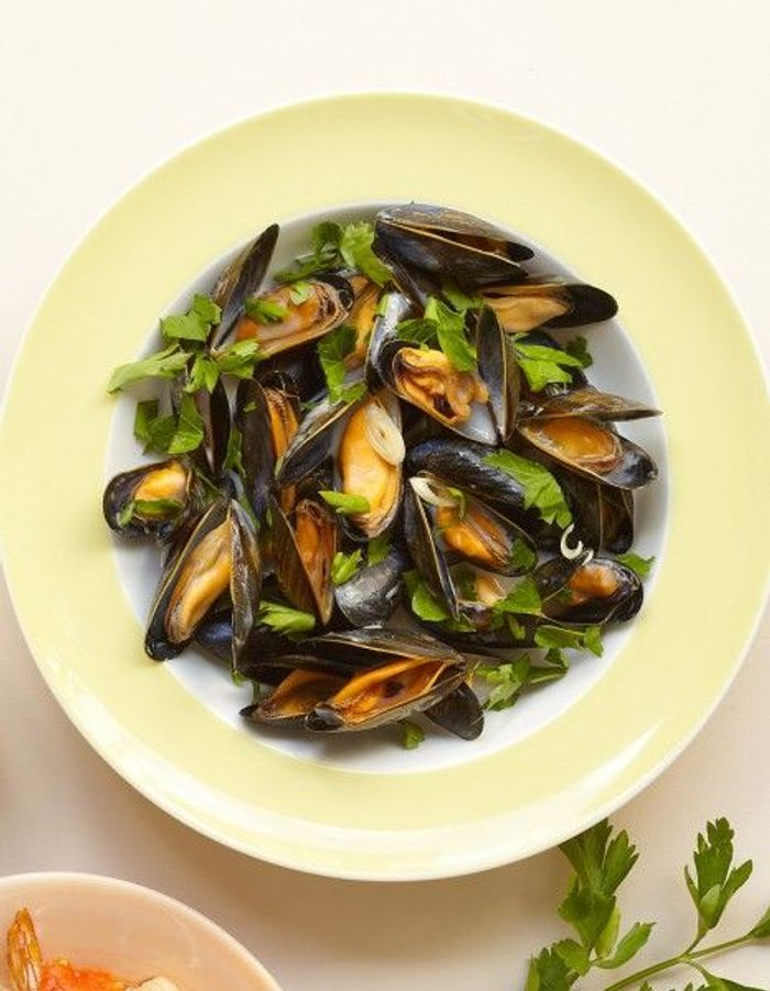 Recette minceur rapide moules marini res la tha e - Cuisine minceur rapide ...