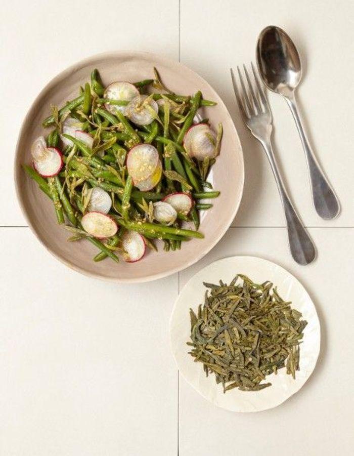 Recette minceur rapide salade de haricots au th vert - Cuisine minceur rapide ...