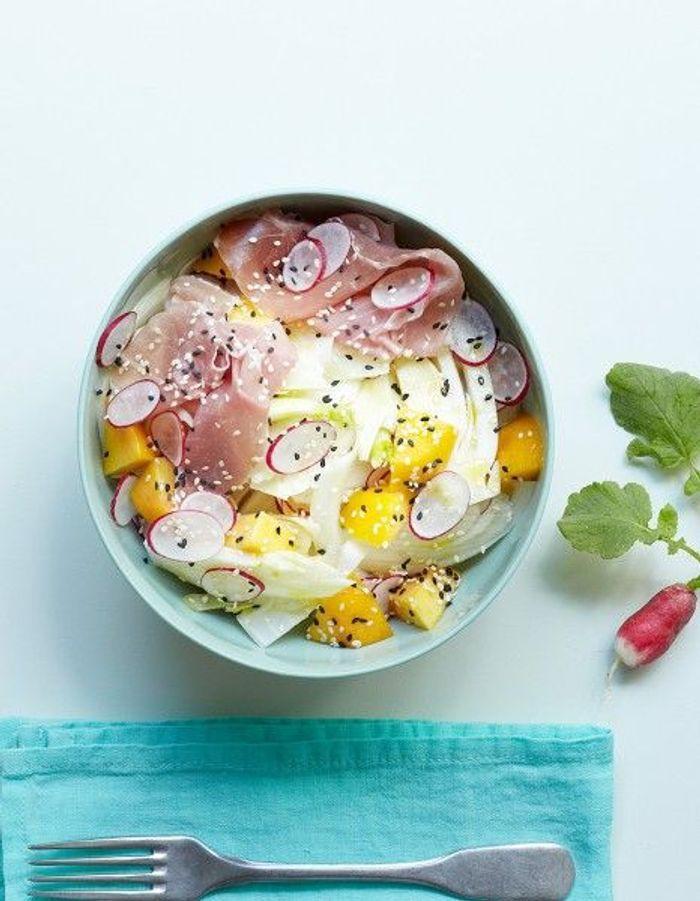 recette minceur soir salade fenouil p che jambon cru que manger le soir pour garder la. Black Bedroom Furniture Sets. Home Design Ideas