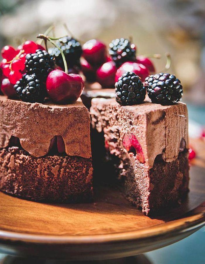 Dessert au chocolat original for t noire aux fruits for Idee de dessert original