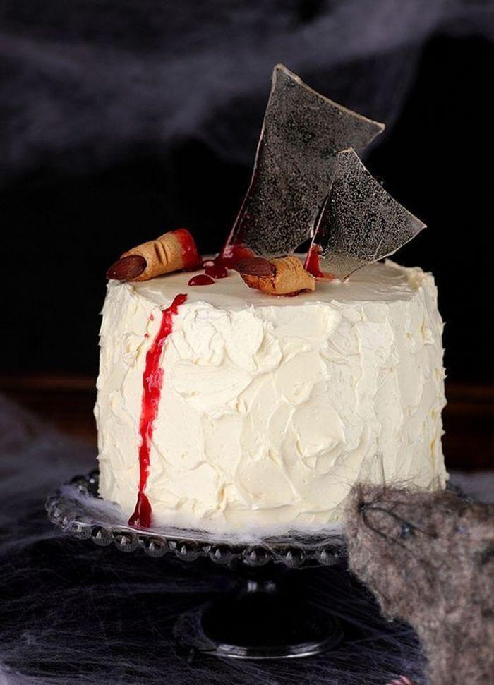 Gâteau halloween blanc