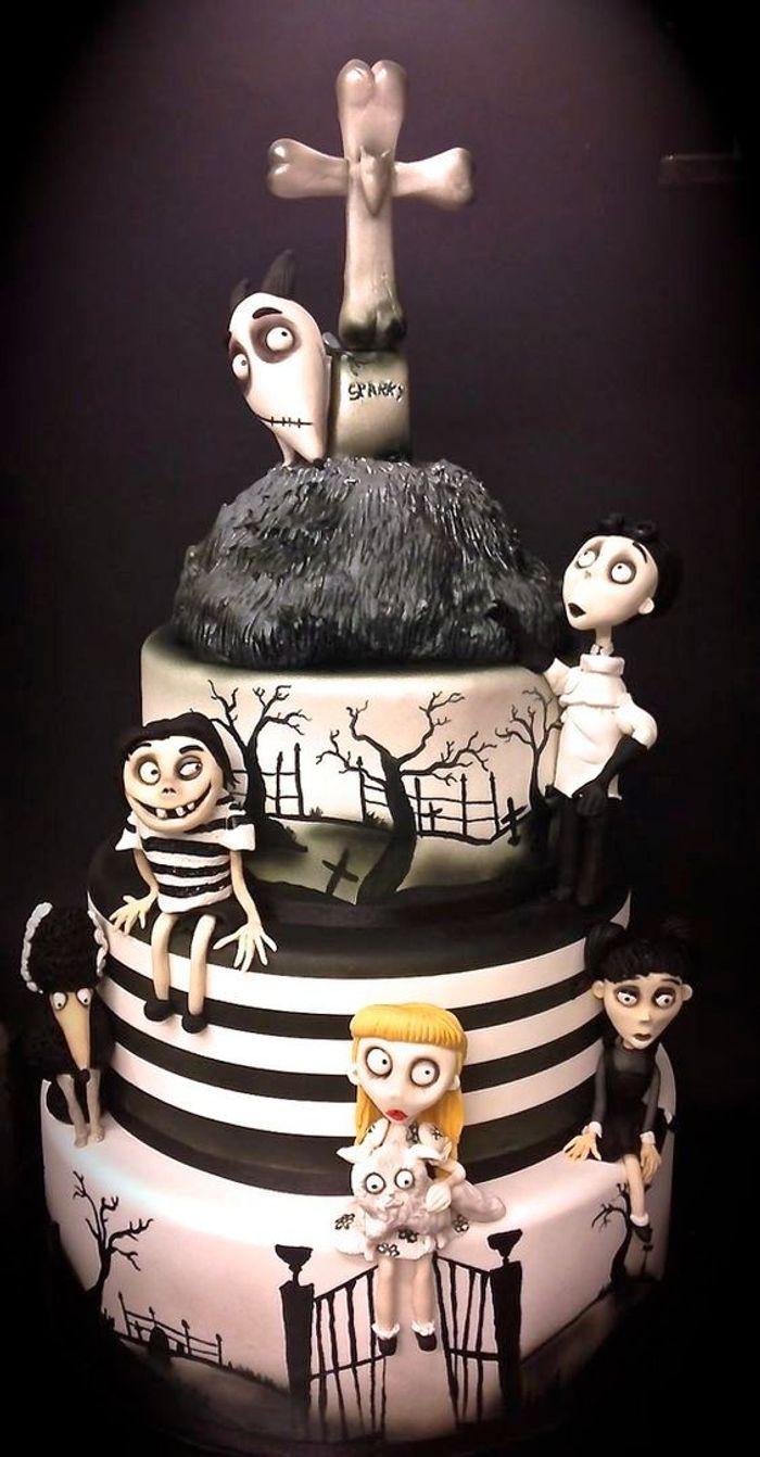 Gâteau halloween difficile