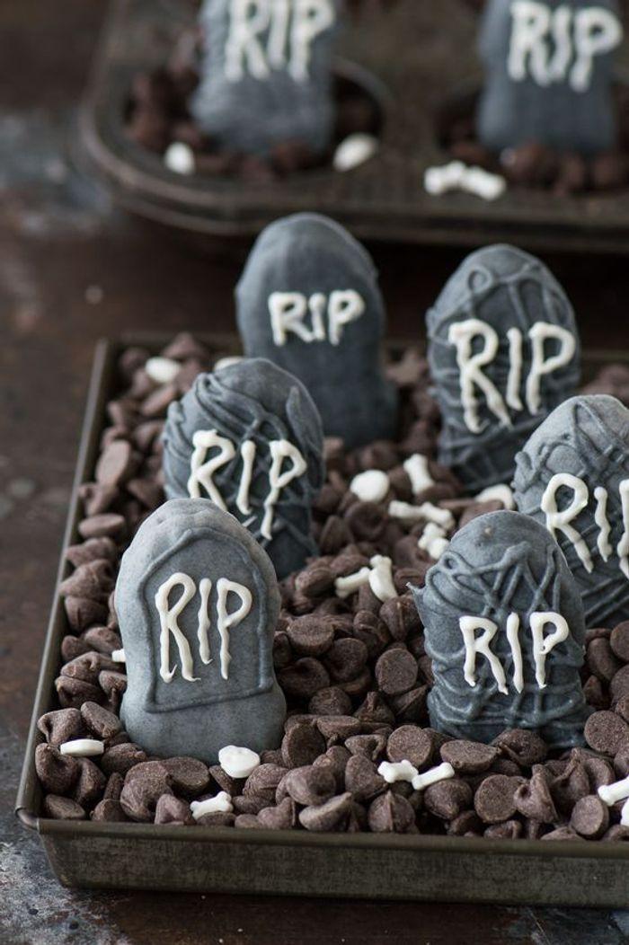 Gâteau halloween pierre tombale