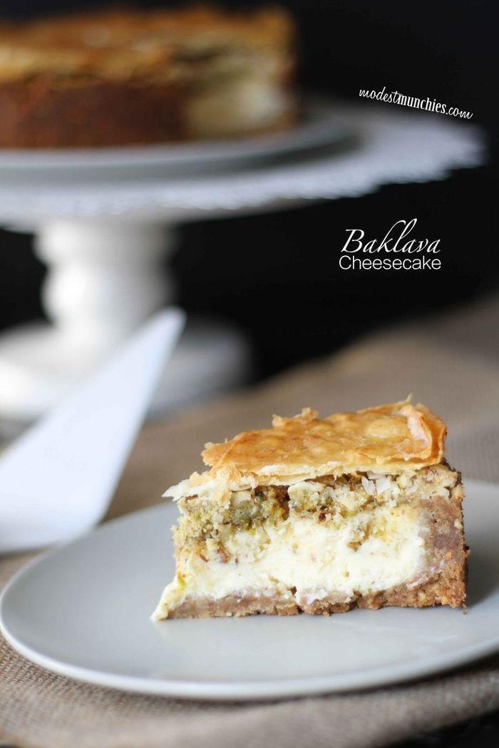Cheesecake baklava