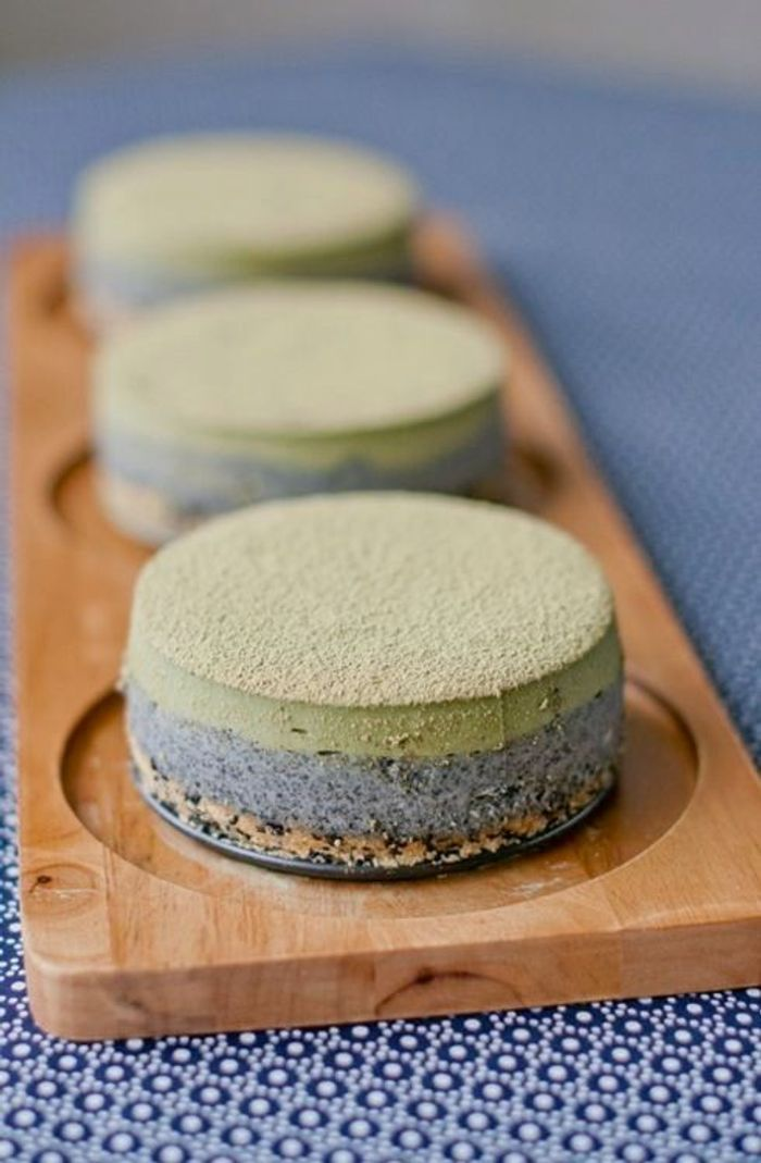 un cheesecake au th matcha les plus beaux g teaux au th matcha rep r s sur pinterest elle. Black Bedroom Furniture Sets. Home Design Ideas